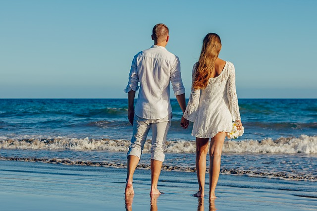 letní svatba u moře