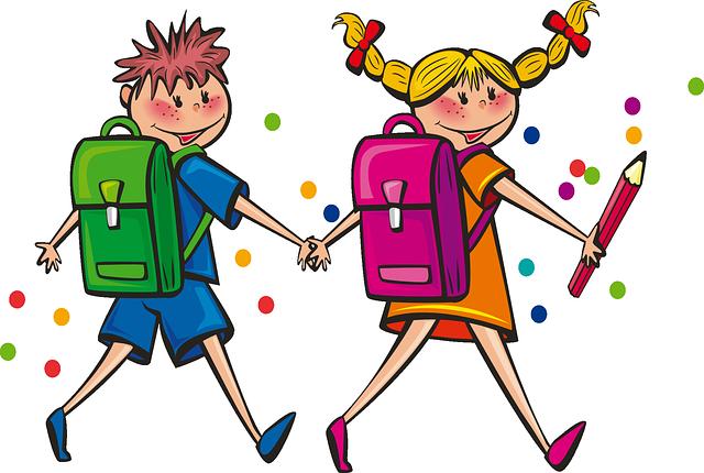 deti cupkajú do školy