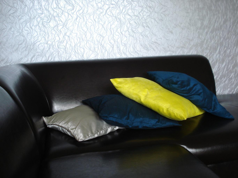 vankúše, sedačka, koža